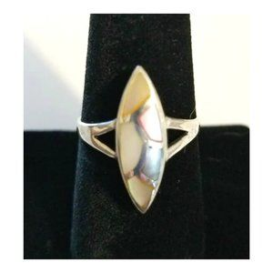 VTG Artisan Sterling Inlaid Mother of pearl Ring